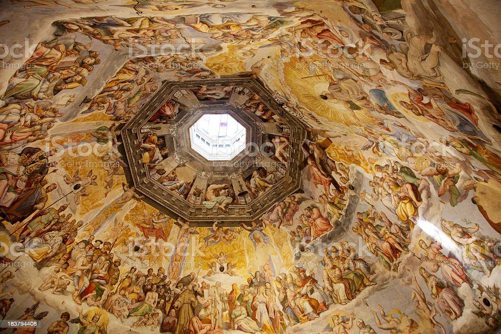 Brunelleschi Cupola, Florence Duomo, Italy royalty-free stock photo