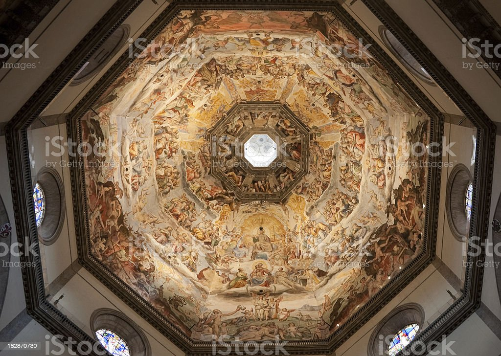 Brunelleschi cupola, Florence duomo, Tuscany. royalty-free stock photo