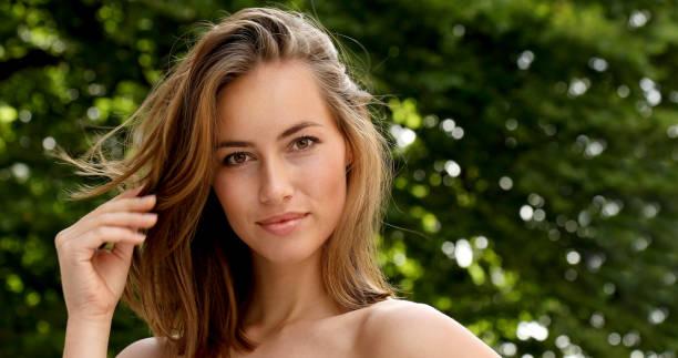 Brunette beauty stock photo