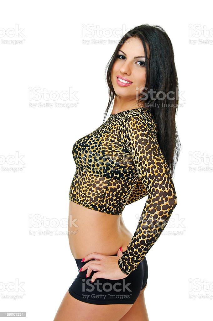 brunette model stock photo