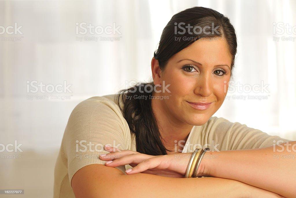 Brunette Model Portrait royalty-free stock photo