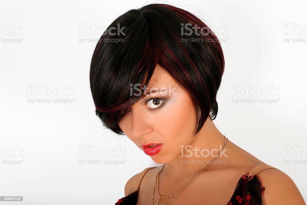 brunette royalty-free stock photo