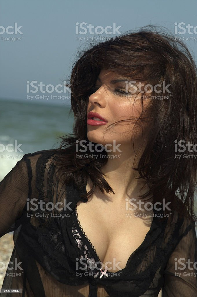 brunette royalty free stockfoto