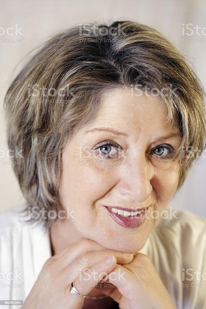 Brunette senior lady royalty-free stock photo