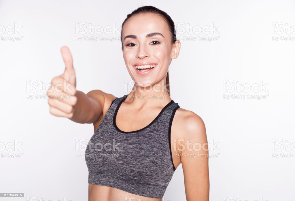 Brunette sport woman After Workout. royalty-free stock photo