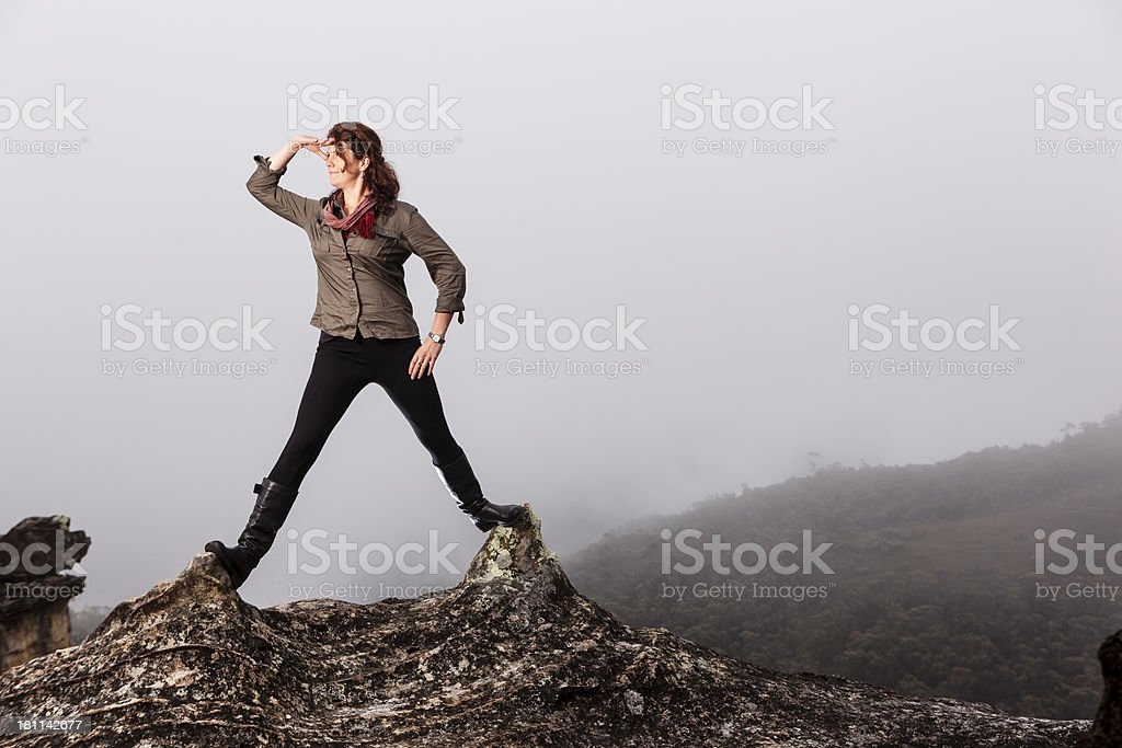 Brunette woman in nature royalty-free stock photo