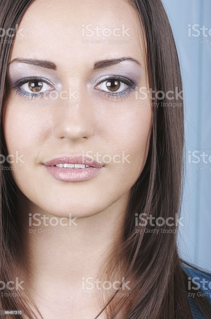 Brunette woman royalty-free stock photo