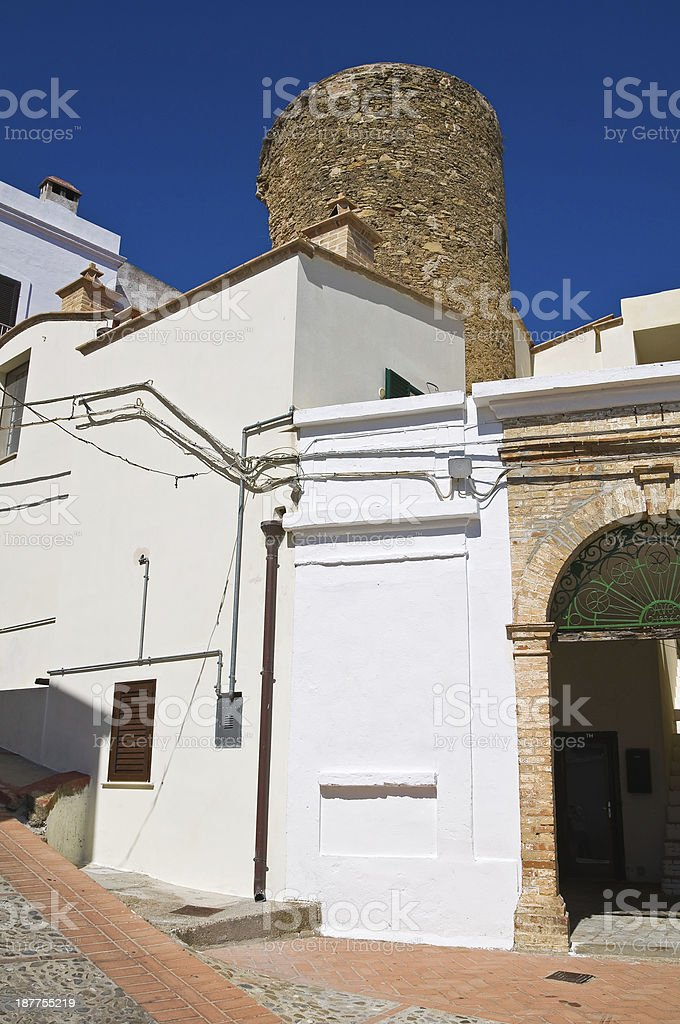 Bruni Tower. Alleyway. Pisticci. Basilicata. Italy. royalty-free stock photo