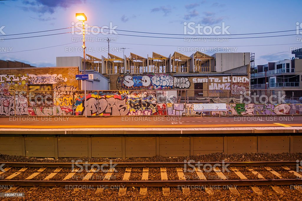 Brunswick - Anstey Station stock photo