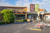 Melbourne, Australia - January 12, 2017: An entrance to Barkly Square, a neighbourhood shopping centre located in Brunswick.
