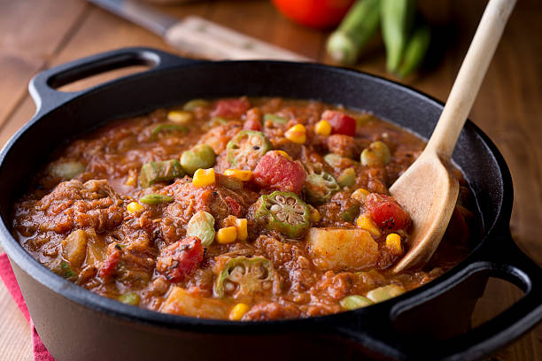 Brunswick Stew Traditional Brunswick Stew. stew stock pictures, royalty-free photos & images