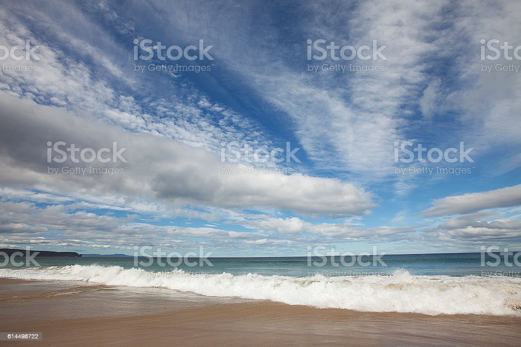 Bruny Island Clouds stock photo