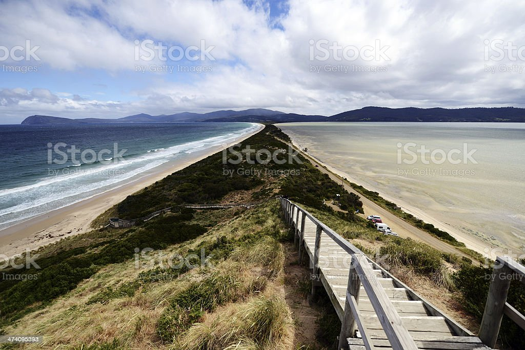 Bruny Island Neck Lookout stock photo