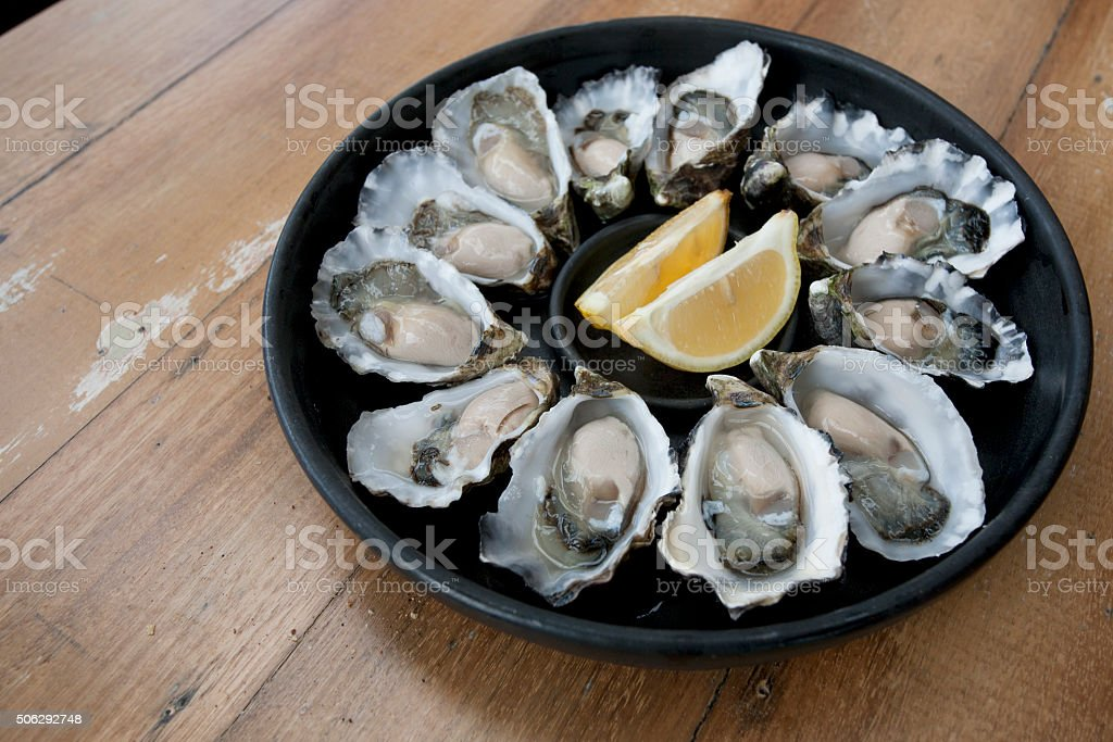 Bruny Island Oysters stock photo