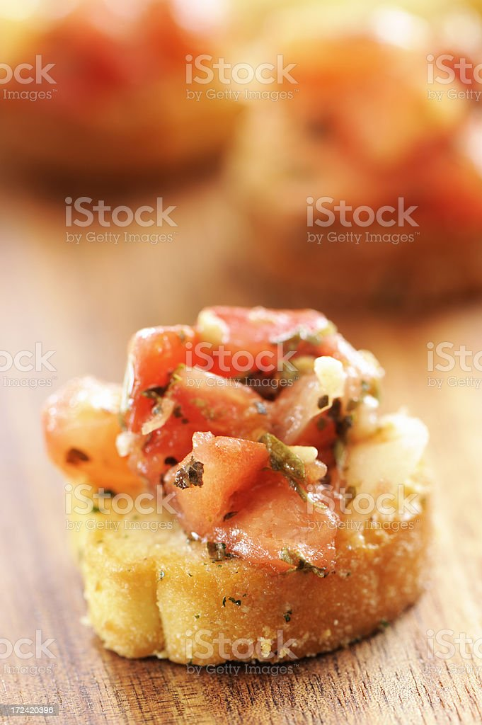 Bruschetta cracker appetizers royalty-free stock photo