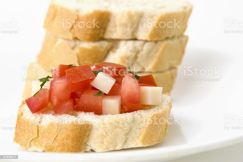 Bruschetta - Italian Food royalty-free stock photo