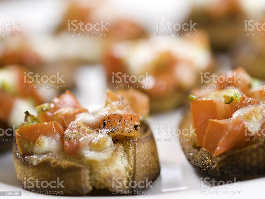 bruschetta on white royalty-free stock photo
