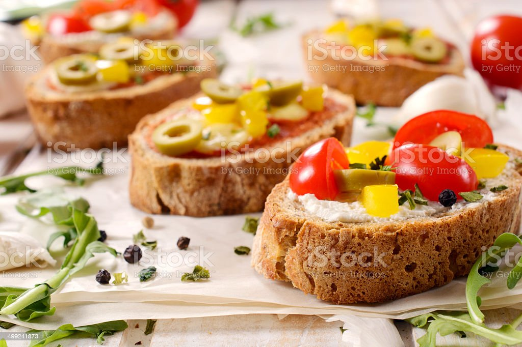 Bruschetta sandwich royalty-free stock photo