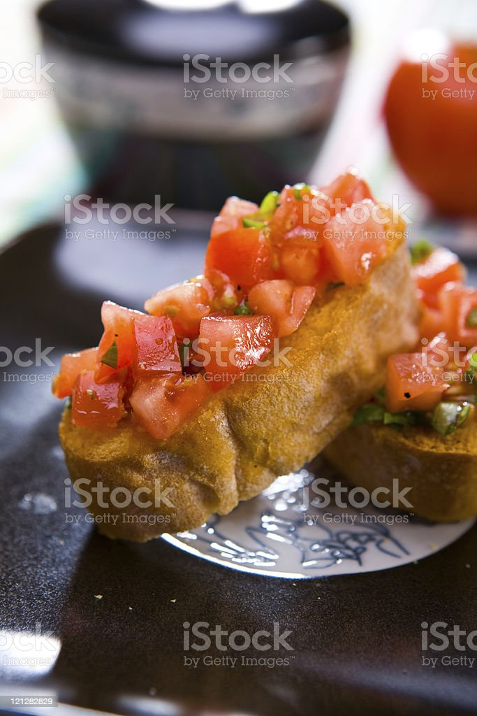 Bruschette pomodoro royalty-free stock photo