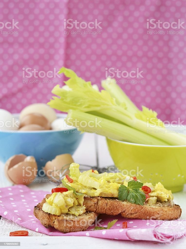 bruschetta with celery royalty-free stock photo