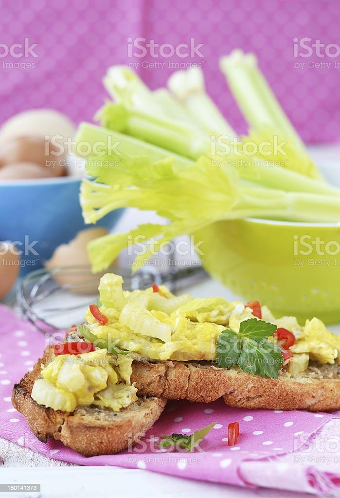 bruschetta with celery royalty-free stock photo