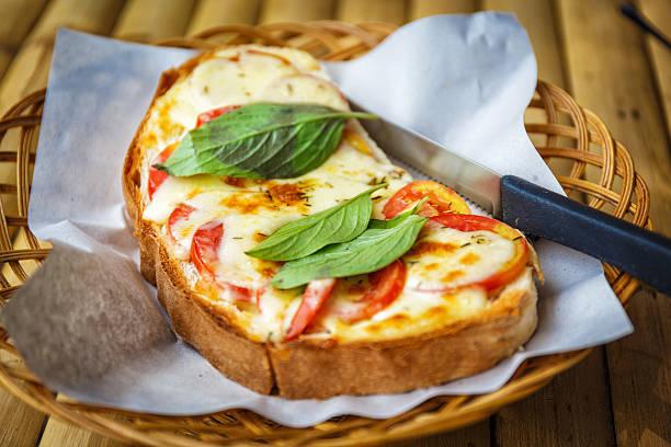 Bruschetta con pomodori - foto stock