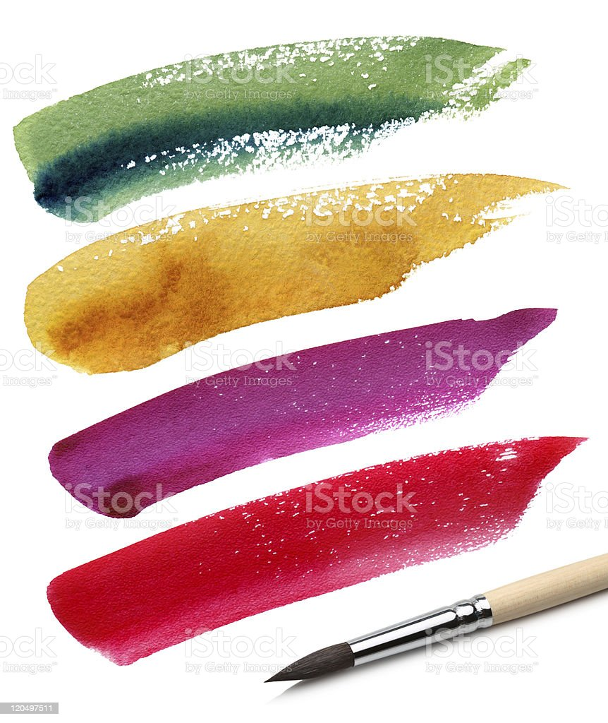 brush and color paint sketch stock photo