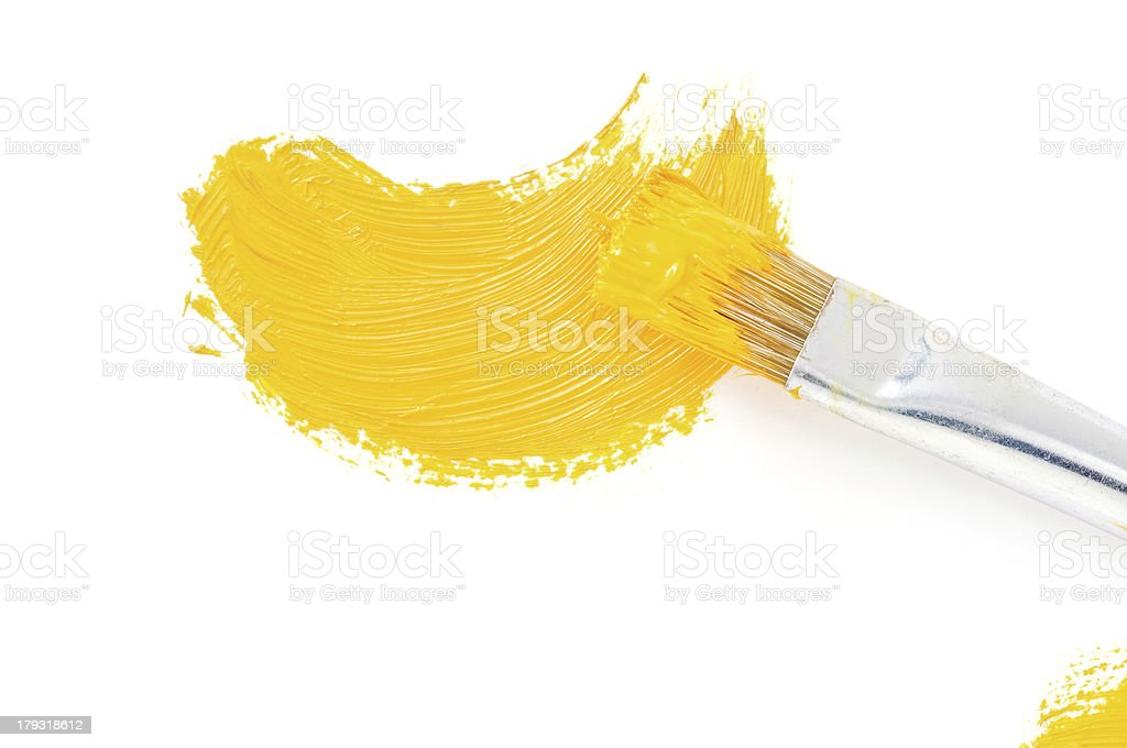 brush and oil paint stroke on white royalty-free stock photo
