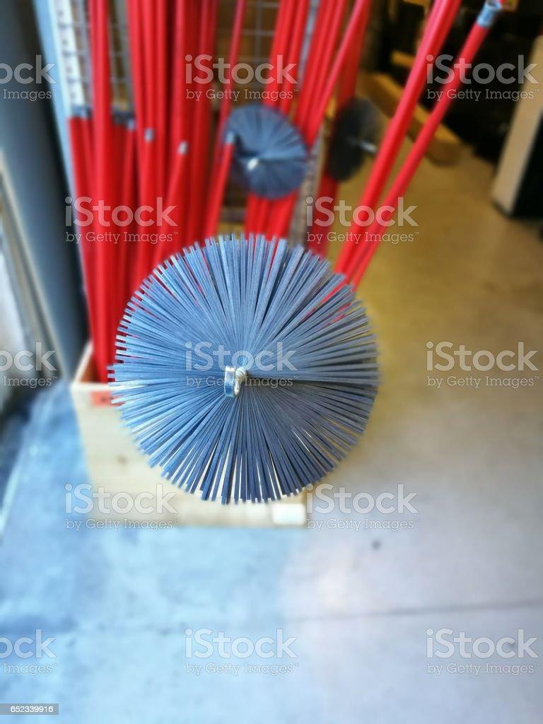 brush chimney stock photo