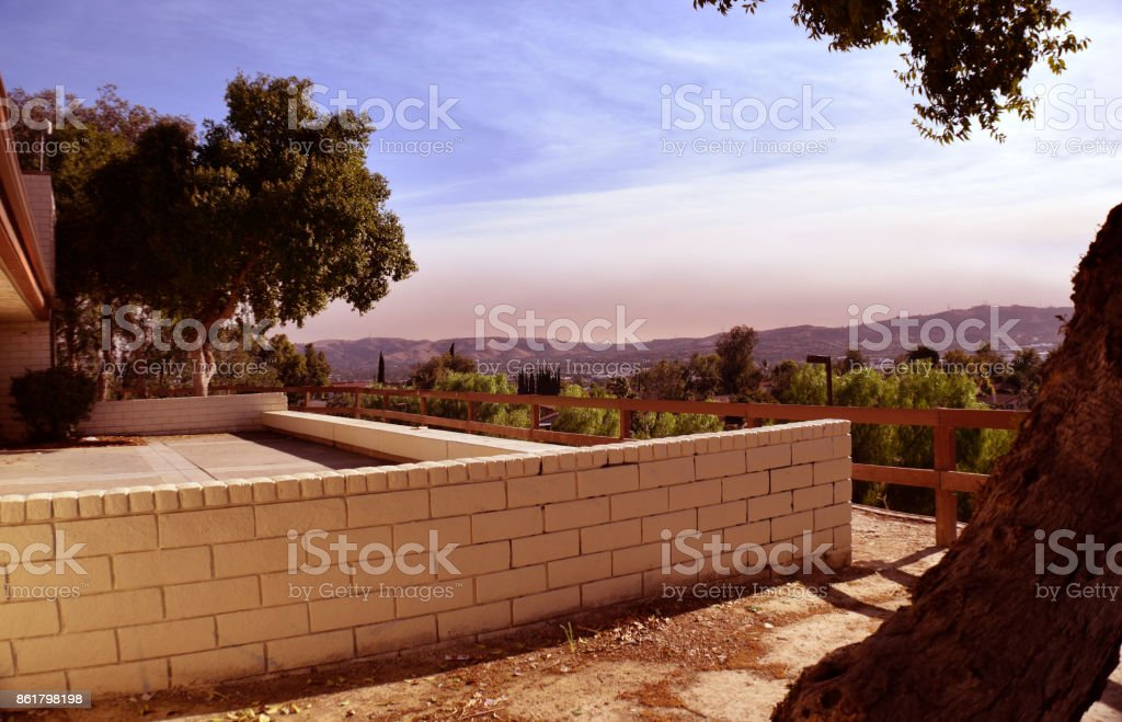 A Brush Fire in the O.C. stock photo
