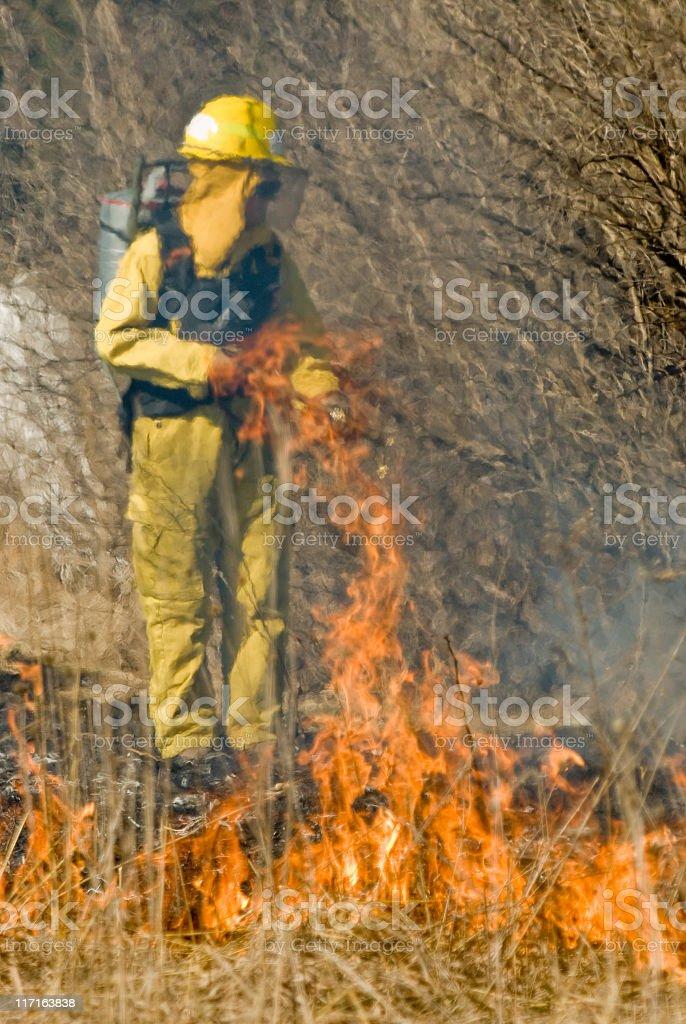 Brush Fire stock photo