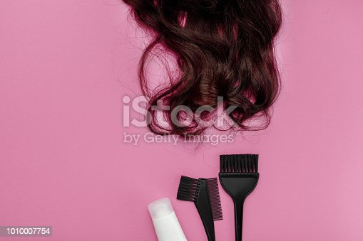 istock brush for dyeing hair and hair 1010007754