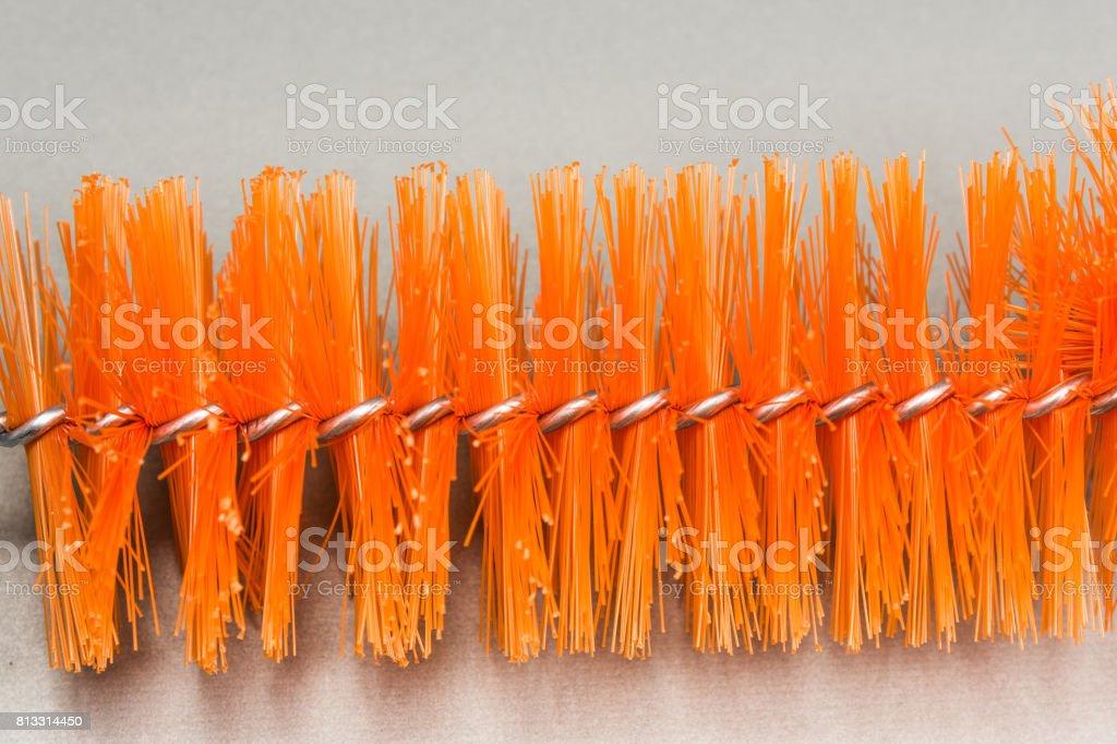 Brush for washing bottles stock photo