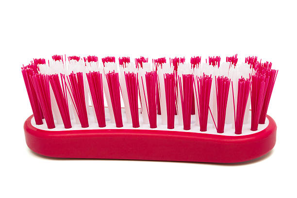Brush for washing Brush for washing on a white background scrubbing brush stock pictures, royalty-free photos & images