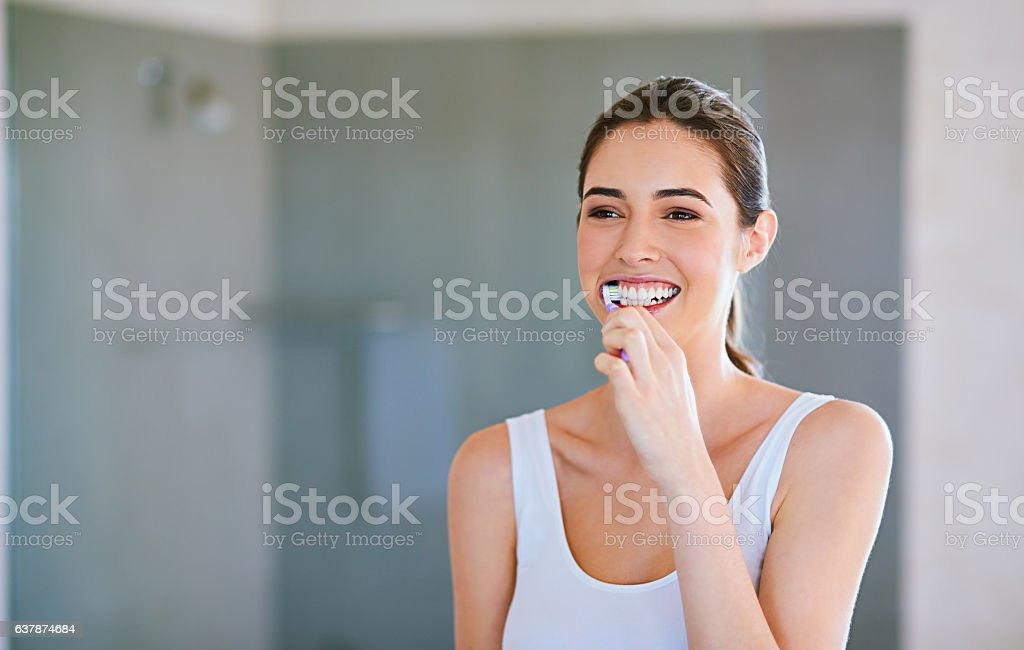 Brush for your own good stock photo