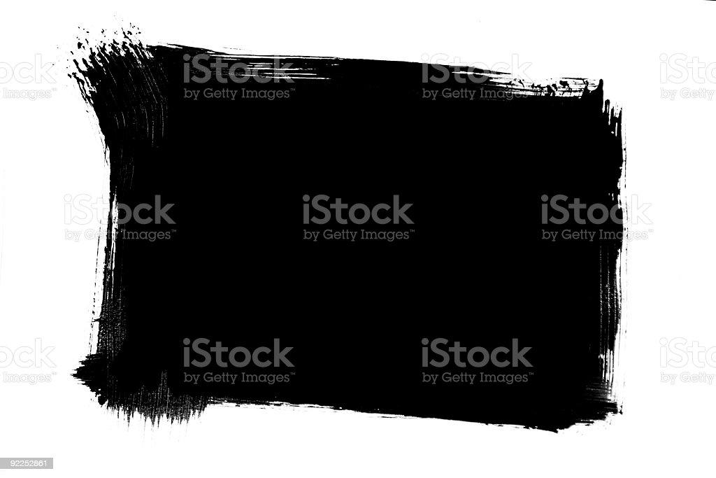 Brush frame royalty-free stock photo