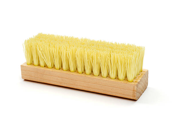 Brush Isolated on White Cleaning Equipment Brush scrubbing brush stock pictures, royalty-free photos & images