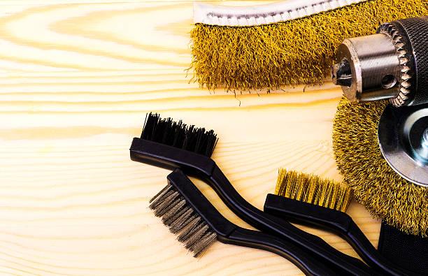 Brush Metal stock photo