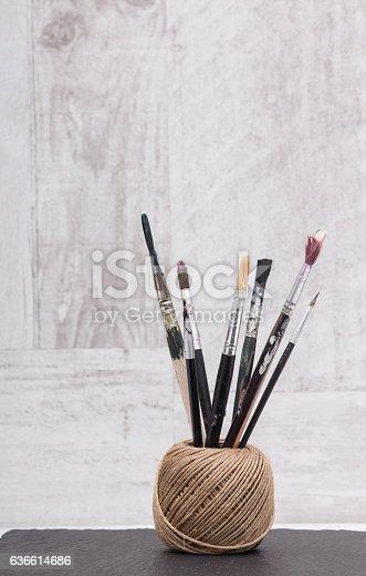510006691 istock photo Brush paint 636614686