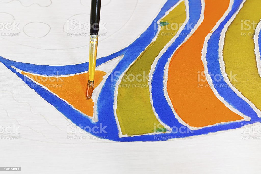 brush painting of cold batik royalty-free stock photo