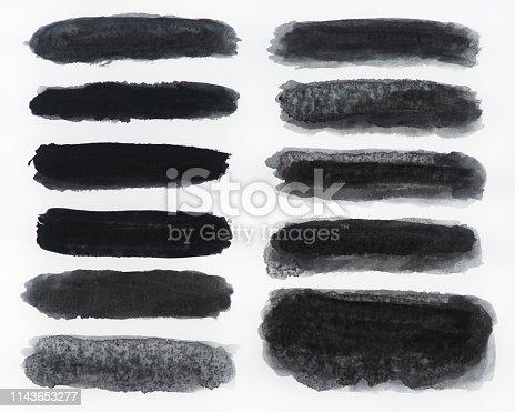 istock Brush stroke backgrounds 1143653277