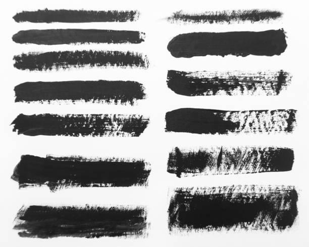 arrière-plans de contour de pinceau - élément graphique photos et images de collection
