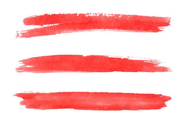 Brush stroke Red brush stroke. brush stroke stock pictures, royalty-free photos & images