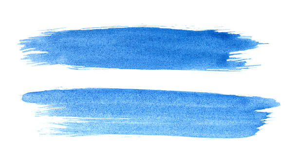 Brush strokes Blue brush strokes. brush stroke stock pictures, royalty-free photos & images