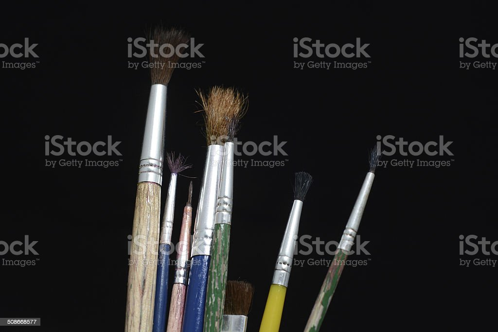 brush to paint stock photo