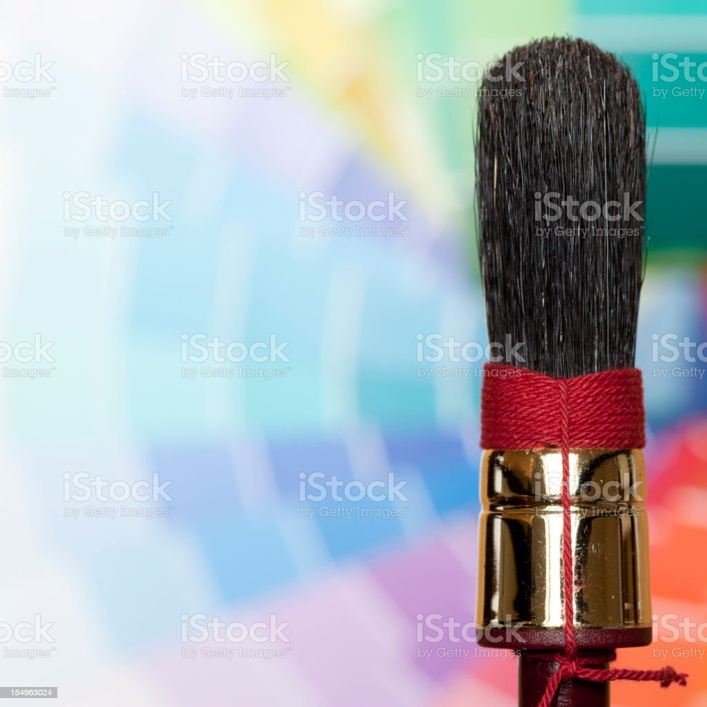 Brush with copy space. royalty-free stock photo