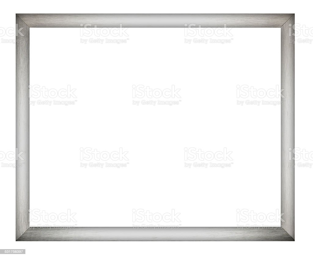 Brushed Aluminium Picture Frame stock photo