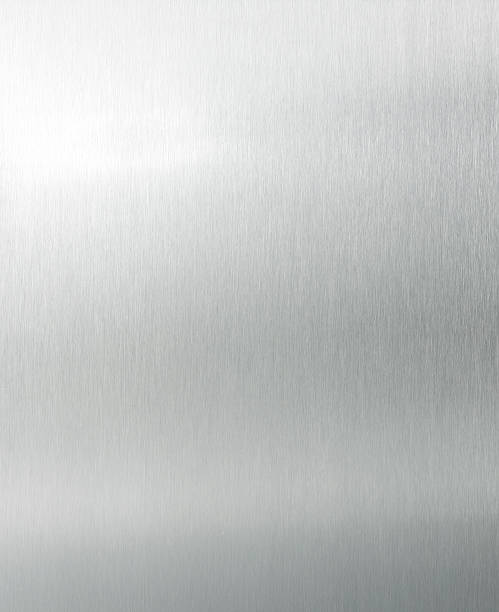 Brushed aluminium XL Brushed aluminium texture with light effects  metal stock pictures, royalty-free photos & images