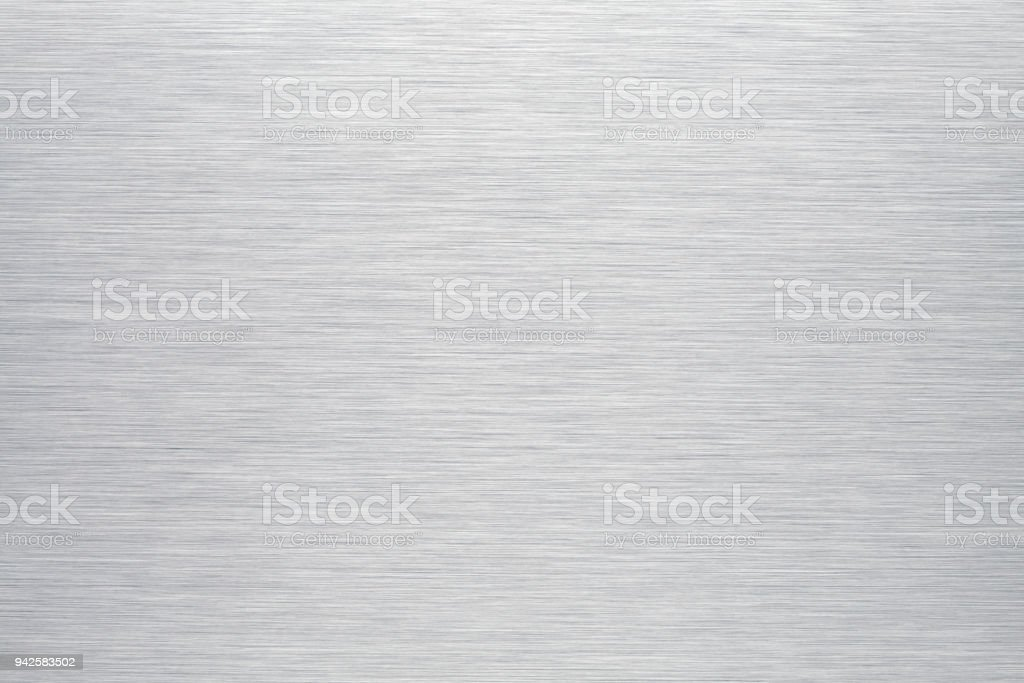 Brushed aluminum background or texture stock photo