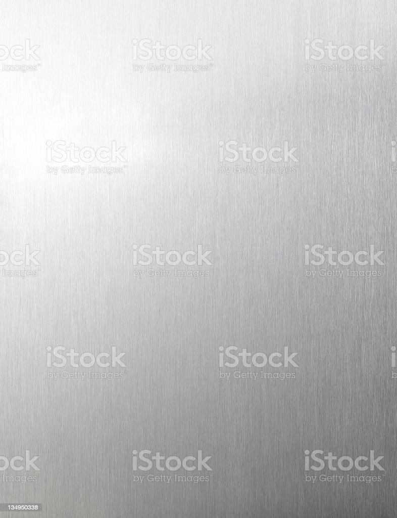 Brushed aluminum background XXLarge royalty-free stock photo